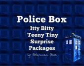 Police Box Surprise Package - Itty Bitty Teeny Tiny - Snail Mail, Small Gift Idea--ON SALE