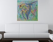 Angel Fish Wall Sticker Decal - Animal Pop Art by Dean Russo