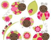 ladybug clip art lady bug clipart insects - Lovely Ladybugs Clip Art