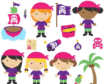 digital clip art pirates clipart girls - Pirate Girls Clip Art