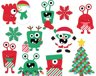 christmas clipart clip art monsters - Christmas Monsters Clipart