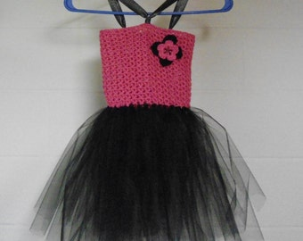 Adorable Pink and Black Tutu dress for a little girl!