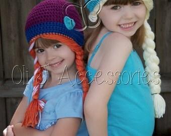 Girls' Princess Beanie Set w/ Braids