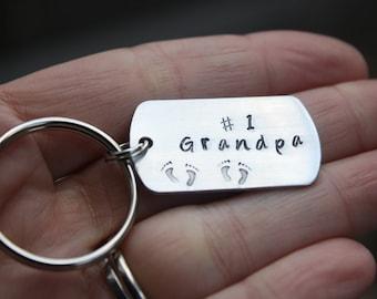 Number 1 Grandpa Key Chain, Grandparent Gift