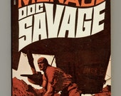 Doc Savage 64, The Motion Menace by Kenneth Robeson 1971 Bantam Book S6653 Second Bantam Printing Cover Art by James Bama. Vintage Paperback