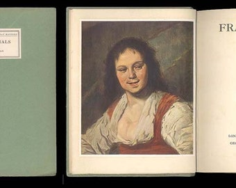 Frans Hals Monograph on Frans Hals by E. V. Lucas, Vintage Art Book, Little Books on Great Masters 1926