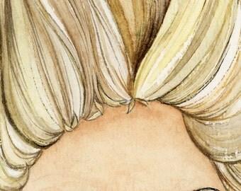 ACEO Blonde giclée print / Art Card