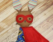 Super Bunny Love Buddy / Superhero Lovey Lovie Security Blanket