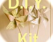 PINWHEEL KIT, Photo Prop Map Pinwheel, Pinwheel Prop, Vintage Wedding, 7-inch Pinwheels, Baby Shower, Easy To Assemble Yourself