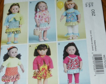 New McCall's 18' doll Clothes Pattern M6370