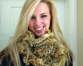 Cats Cozy Cowl Snooky Snood Hand Knit