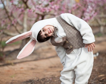 White rabbit costume for Easter, Baby Costume, Toddler Costume, Kids Costume