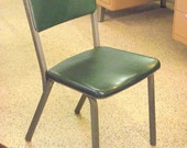 Retro Metal Steel Age Industrial Chair Mid Century COSCO Hamilton Green - Office