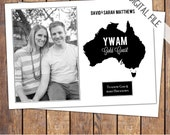Missions Trip Support Card, modern, photo, personalized, digital, YWAM, fundraiser card, diy save the date, customized, printable (item249a)