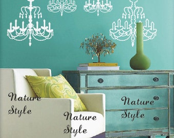 Chandelier -Vinyl Wall Decal,Sticker,Nature Design baby room decal wall decal nursery decal