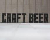"""Metal """"Craft Beer"""" Sign"""