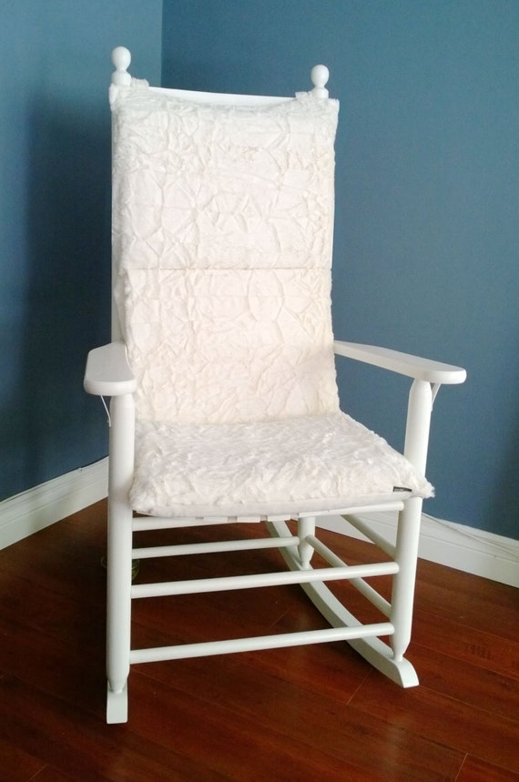 Rocking Chair Cushion Cover White Microplush By RockinCushions