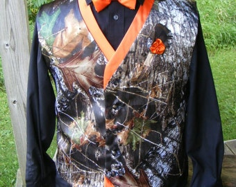 camo vest camo wedding vest two color vest