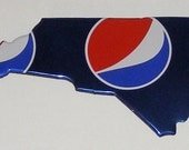 NORTH CAROLINA (NC) Shaped Magnet - Regular Blue Pepsi Soda Can