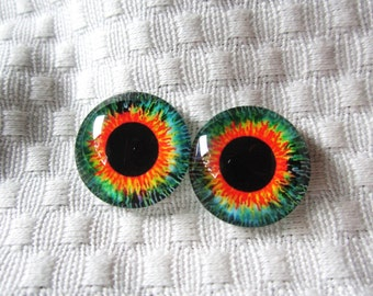 Glass eyes for jewelry making or crafts 20mm cabochons