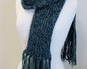 Navy Blue and Sage Green - hand knitted by The Acorn Nook