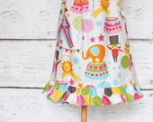 SAMPLE SALE Big Top Peasant Dress - Circus Flutter Sleeve Dress SIZE 12 months