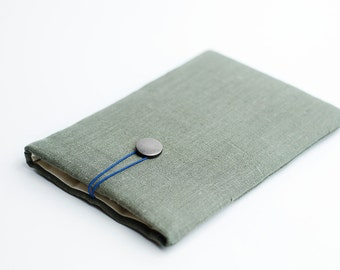Macbook 11 inch sleeve, Macbook 11 case, sage green