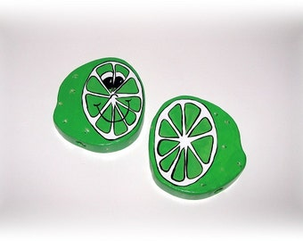LIME - Double Sided Wooden Garden Personality Plant Marker -Gift for the gardener
