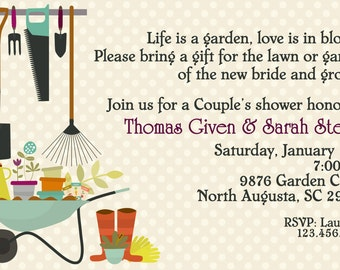Garden or Outdoor Couples Wedding Shower DIGITAL