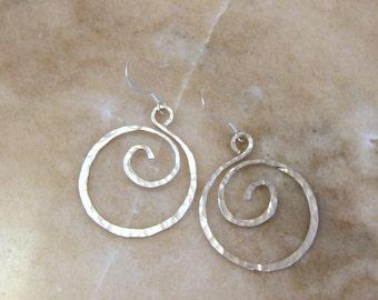 Aluminum Swirl Earrings
