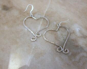 Aluminum Heart Earrings
