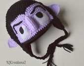 Inspired by Character hat- Newborn to Adult- Made to Order