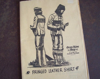 Vintage pattern Green River Forge 1981 Fringed Leather Shirt reenactment rendezvous 1800s style period clothing free shipping to USA