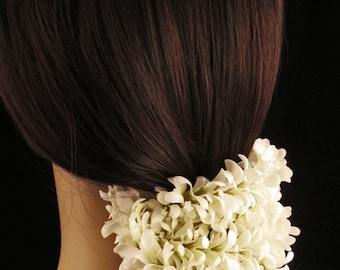 White Silk Gajra Jasmine Garland