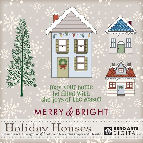 Hero Arts Holiday Houses Digital Kit