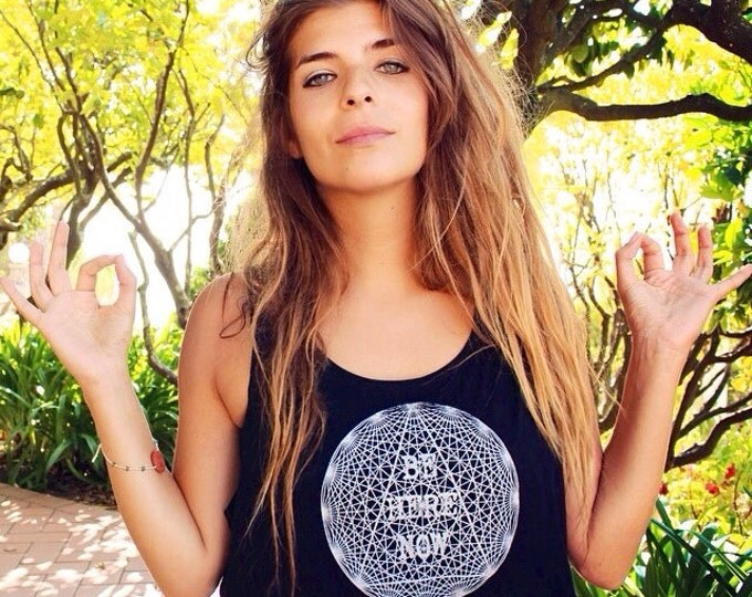 BE HERE NOW Loose Crop Tank