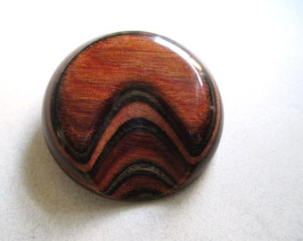 Bakelite Pin infused Wood Pin Brooch Mid Century Brooch Catalin vintage costume jewelry Eames Era mod earth colors moderne