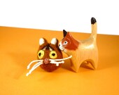 Abyssinian Cat Catnip Cat Toy - Needle Felted Wool
