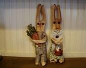 primitive bunny couple