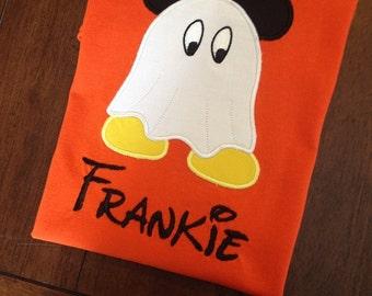 Custom Mickey Ghost Applique shirt