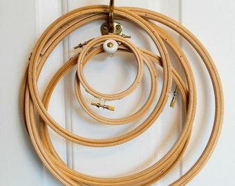 "3"" Wooden embroidery hoop, 7.5cm"