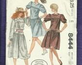 Vintage 1983 McCall's 8444  Laura Ashley Turn of the Century Drop Waist School Girl's Dress Peter Pan Collar Size 12
