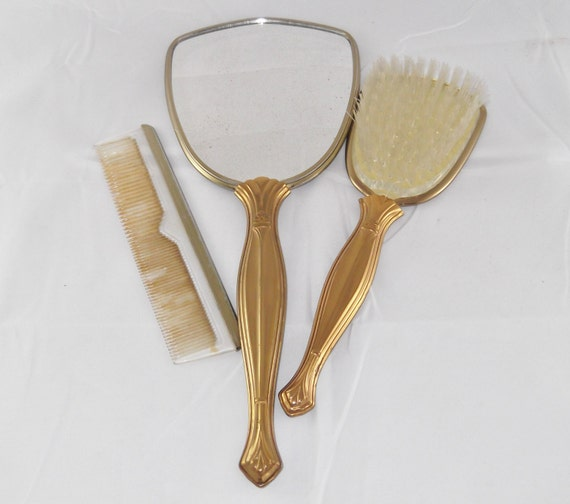 items similar to vintage vanity set mirror brush and comb 87983