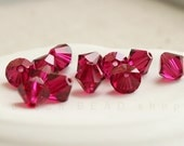 Ruby, Xilion Bicone, Swarovski Crystal, 4mm 6mm 8mm