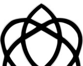 Irish Celtic Love Knot Yard Stake 3' Tall