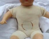 Antique 1940s baby doll cloth body sleepy eyes crier