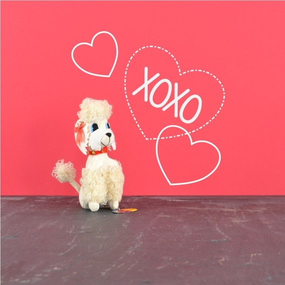 Stuffed White Poodle Dog - R. Dakin Dream Pets - Mid Century Stuffed Animal - Vintage Toy - Vintage Valentine Gift