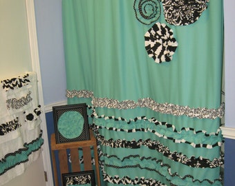 Shower Curtains bathroom shower curtains and rugs : Mint Green Bathroom Rugs. Loved 671 Times 671. Beautiful Pink And ...