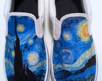 Custom Starry Night Canvas Shoes