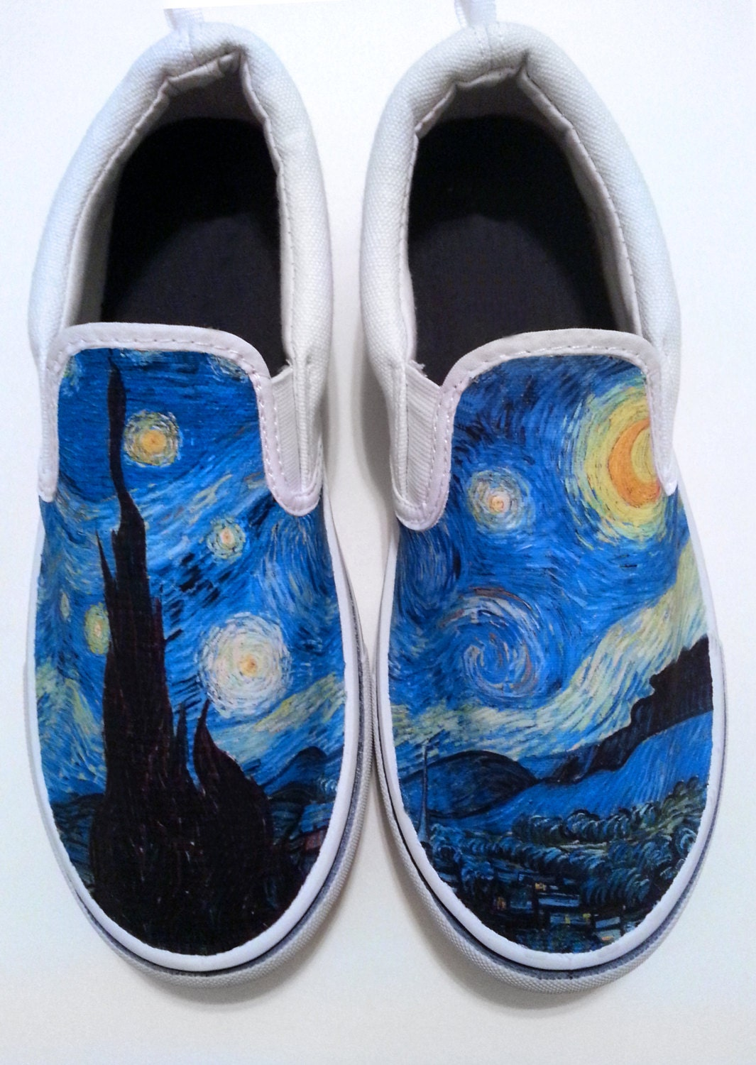 custom starry canvas shoes